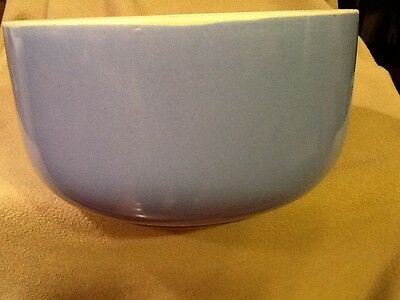 Mixing or Serving Bowl Blue and White Ironstone pottery 9 in W x 5 in T Vintage