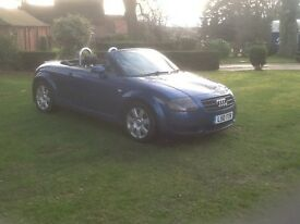 Audi TT Convertible 1.8T 5spd manual FSH comes with private plate