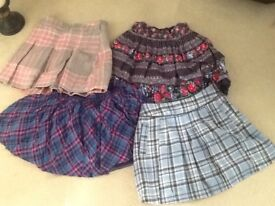 Four skirts age9-10