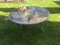 Free Round Glass Garden Table 1.2 metres wide