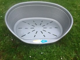 Grey small/ medium dog basket excellant condition