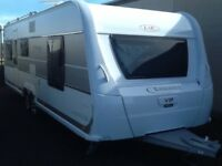 2015 lmc exquisit vip 655 fixed bed 5 berth twin axel