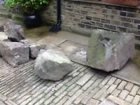 Large collection of massive chunky stones suitable for a large rockery or as a supporting wall