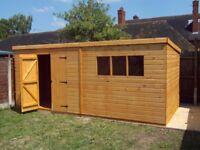 20' x 10' Timber Pent Garden Shed .