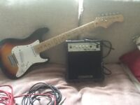 Elevation 3/4 electric guitar and Amp