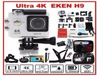 "H9 Ultra HD 1080p 4K Sport 170° Wide WiFi Action Camera DV 2""+Free GIFT Bag+Ex Batt+Charger+selfie"