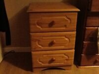 Antique Effect Bedside Drawers.