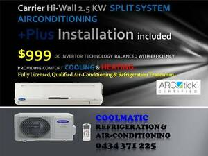 Supply & Install New Air conditioner Wall Mounted Unit from $999 Melbourne CBD Melbourne City Preview