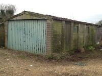Concrete panelled garage. Reasonable condition. Free to anyone to dismantle