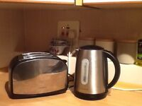 Cheap toaster and kettle