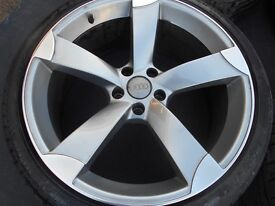 20″ AUDI ROTOR STYLE ALLOY WHEELS /TYRES - 5 X 112 FITMENT