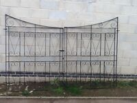 Wrought Iron Gates-Pair