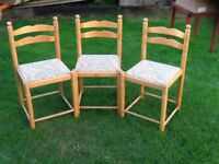3 X Kitchen or Dinning Chairs