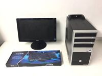 Gaming Computer PC, Tower with Monitor and accessories (Quad Core, 6GB RAM, 500GB HD, GTX 750 Ti 2GB