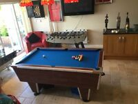 PUB STYLE POOL TABLE AND FOOTBALL TABLE