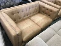 DFS Duke Leather 3 seater sofa and Armchair