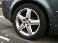 17 inch Genuine Audi Alloy Wheels & Tyres (vw,golf,a6,a8,a4,bora,tt,bbs,deep,gti,5x112,skoda)