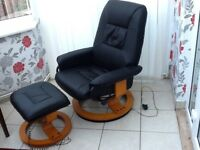 Tuscany Swivel Recliner Chair with 8 point Massage