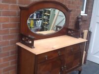 Shabby chic project beautiful mirror backed sideboard/dresser