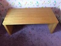 Solid coffee table in oak £20