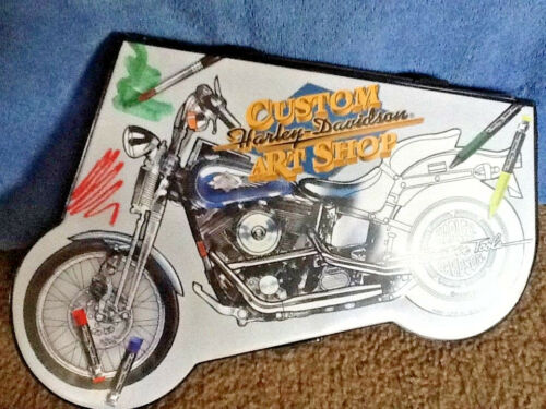 Harley-Davidson Custom Art Set Creative Tools Drawing Art Supplies in Case 1997