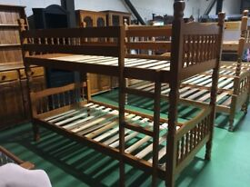 Pine wooden bunk beds