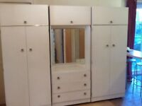 Wardrobes with center drawers with mirror ,chest of drawers ,bedside cabinets buyer collects