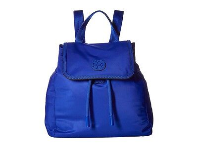 NWT Tory Burch - Scout Nylon Small Backpack Jewel Blue