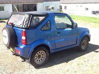 Suzuki Jimny JLX 1.3 soft top 4 wheel drive 2001 69000 miles