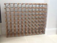 WINE RACK. Large size. Holds up to 90 bottles. Pick up chiswick