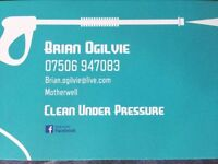 Clean Under Pressure. Power washing company based in Lanarkshire.