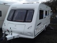 2008 elddis odyssey 524 /4 berth end changing room with fitted mover full awning & many extras