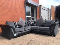 PENDING Absolutely Grey & Black Harvey's Corner sofa EX DISPLAY 🚚 delivery 🚚 sofa suite couch