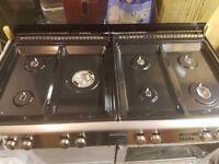 New, still boxed. Stoves Precision 1100 double oven. Silver.