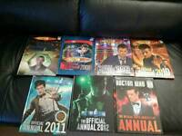 7 Dr who annuals in excellent condition
