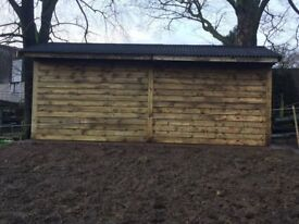 24ft x 12ft , car port , double field shelter , stables. NO VAT !!