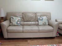Leather 3 seater sofa and 2 seater sofa for sale