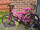 24 inch Girls mountain bike with discs and full suspension kids bicycle recently serviced