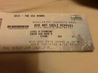 RED HOT CHILLI PEPPERS STANDING TICKETS. £80
