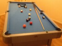 6ft x 3ft pool table in good condition , see photos