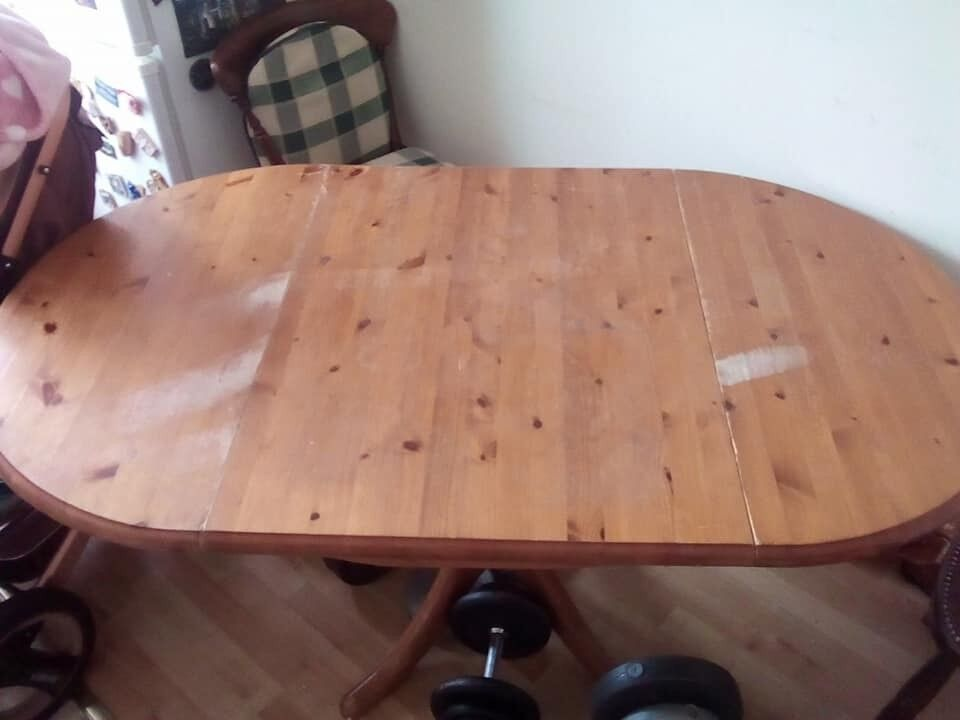 Massive Wood Dining Table For Sale