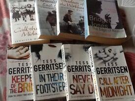 8 books including 3 call the midwife, Bridget Jones & 4 Tess Gerritsen