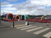 Electric Gokarts with track+trailer plus 3 Inflatables with additional equipment to run business