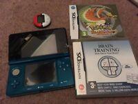 Nintendo DS, 2 Games (one Pokemon) + Charger/Stylist & Pokewalker
