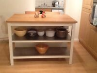 Like new Stenstorp Kitchen Island with chairs