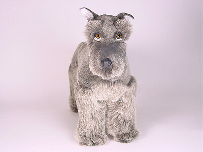 (Miniature Schnauzer by Piutre, Hand Made in Italy, Plush Stuffed Animal NWT)