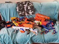 16 assorted Dart guns or NERF guns