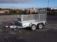 NEW FACTORY MADE GALVANISED CAR TRAILERS MESHSIDES & RAMPDOOR