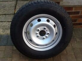 New Fiat Ducato Motorhome Wheel and Tyre
