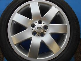 """20"""" GENUINE RANGE ROVER L322 VOGUE SUPERCHARGED ALLOY WHEEL / TYRE"""